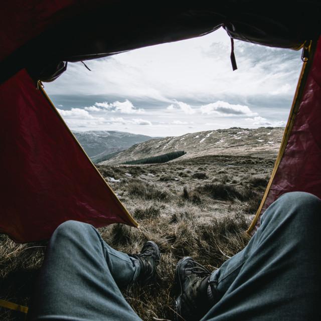"""Camping II"" stock image"