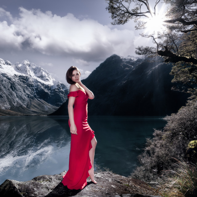 """The Graceful Lake"" stock image"