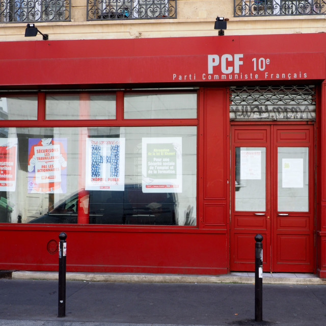 """French Communist party branch in Paris"" stock image"