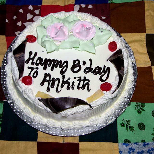 """""""Delicious Birthday Cake"""" stock image"""