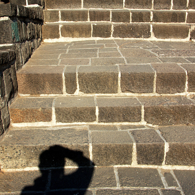 """""""Shadow and Stone Steps"""" stock image"""