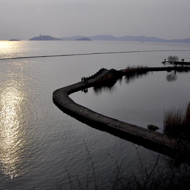 """""""Taihu Lake Wuxi China"""" stock image"""