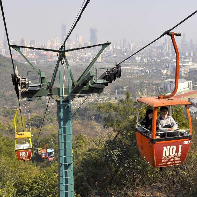 """""""Chairlift Wuxi China 3"""" stock image"""