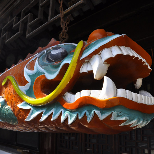 """""""Temple carved dragon Wuxi China"""" stock image"""