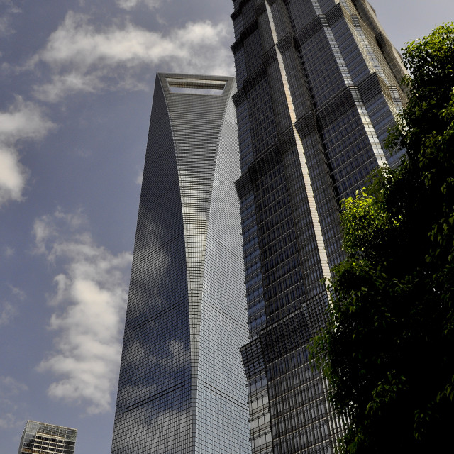 """Skyscrapers Shanghai China"" stock image"