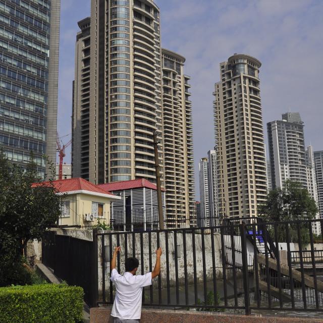 """Pudong waiter Shanghai China"" stock image"