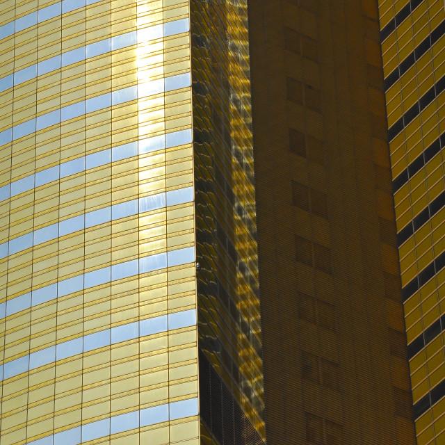 """Glass curtain buildings Shanghai China"" stock image"