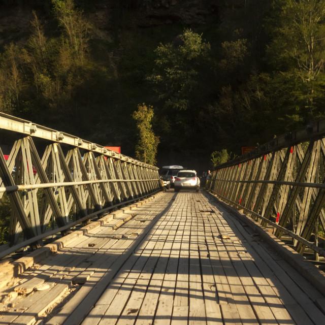 """Border crossing point between Montenegro and Bosnia and Herzegov"" stock image"