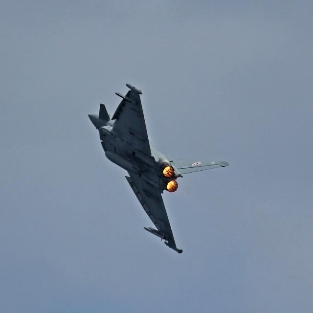 """Typhoon Fighter Jet"" stock image"