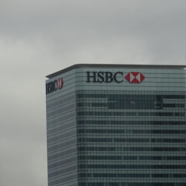 """HSBC Canary Wharf London"" stock image"