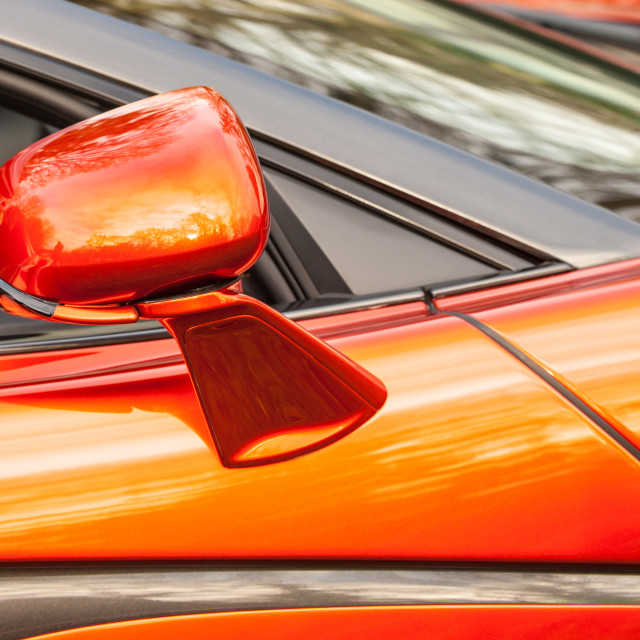 """luxury sports car mirror"" stock image"