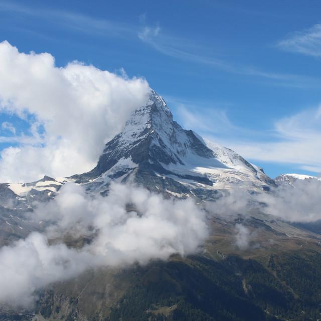 """""""Cloud off the Matterhorn"""" stock image"""