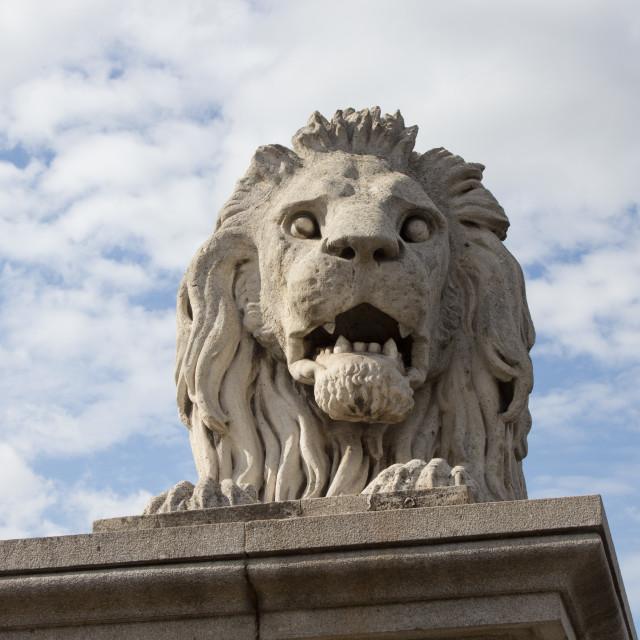 """Lion statue"" stock image"