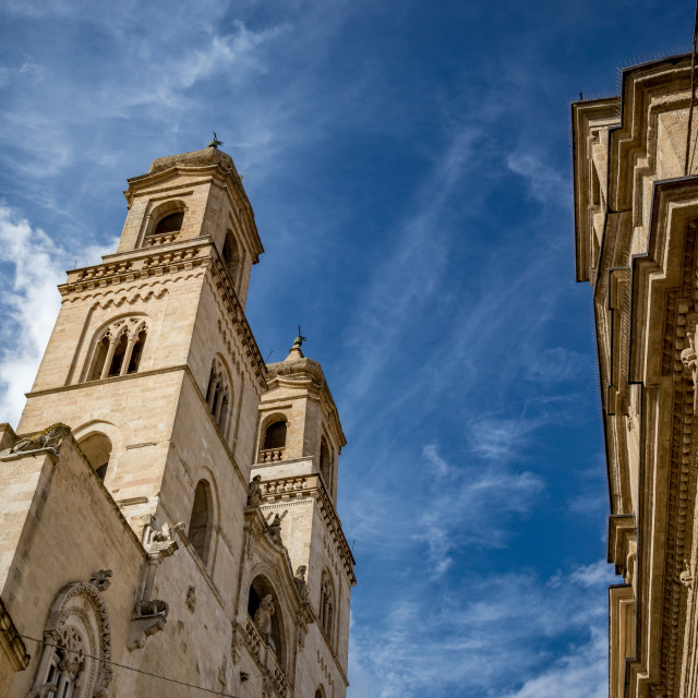 """""""Beautiful street view of Italian Cathedral"""" stock image"""