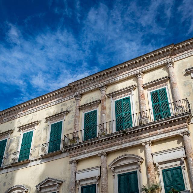 """""""Beautiful medieval facade, Altamura. Puglia. Italy"""" stock image"""