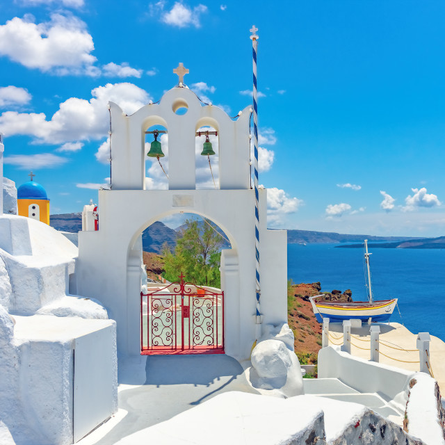 """Architecture on the island of Santorini, Greece, Europe"" stock image"