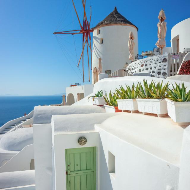 """Architecture on the island of Santorini, Greece, Europe"" stock image"