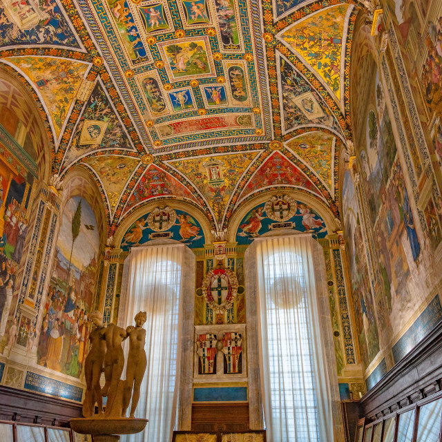 """""""Cathedral of Siena, Italy, Europe"""" stock image"""
