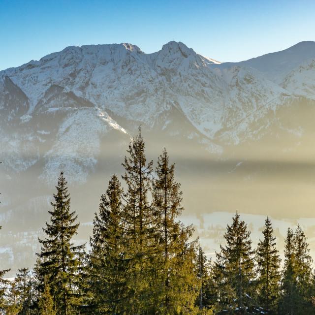 """Giewont, Mountain Tatry landscape, Zakopane, Poland"" stock image"