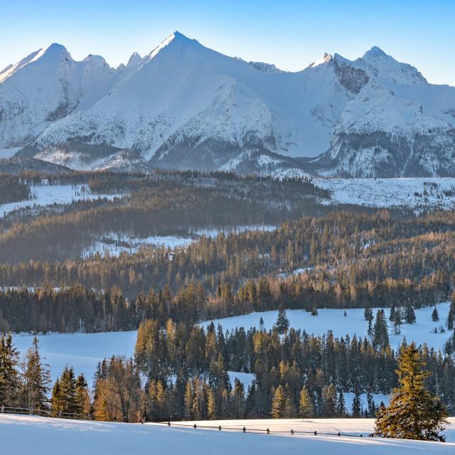 """Mountains Tatry landscape, Poland, Europe"" stock image"