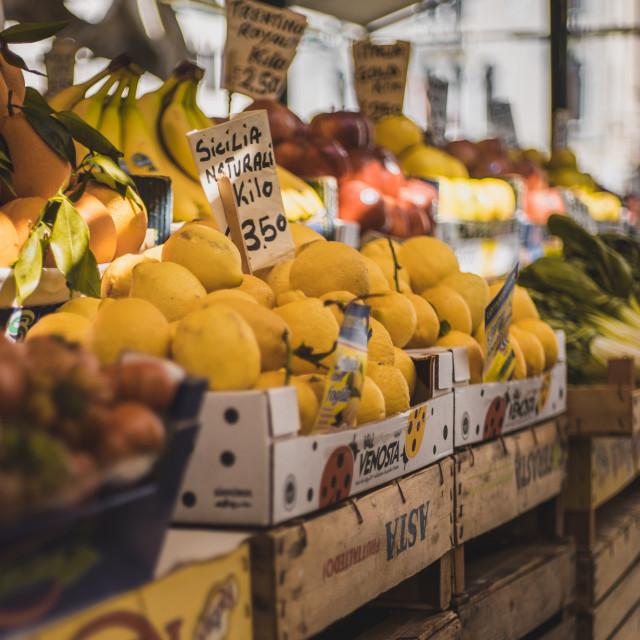 """Venetian Market fruit and vegetables 2"" stock image"