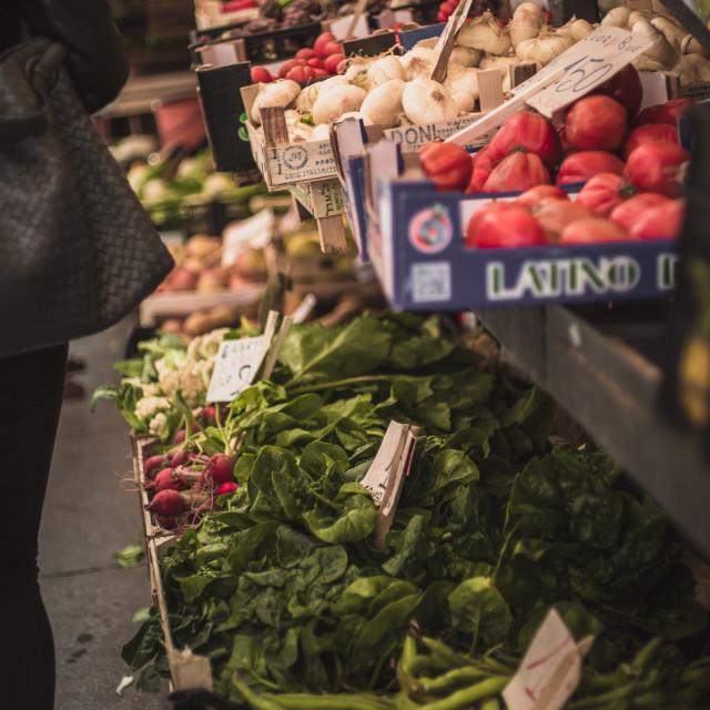 """Venetian Farmer's Markets Veggies"" stock image"