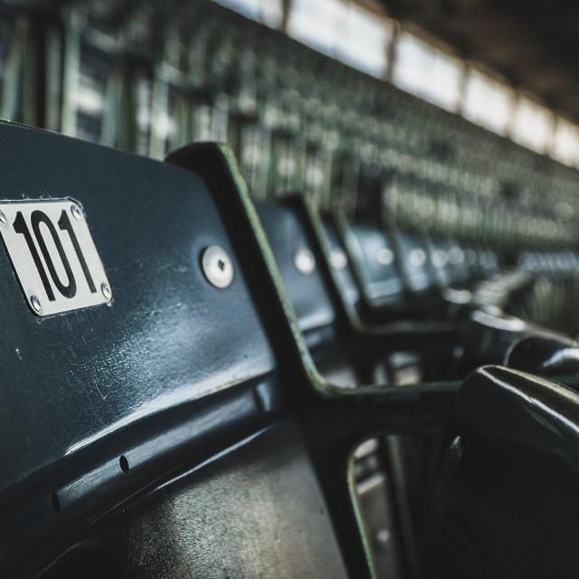"""Stadium Seat 101"" stock image"