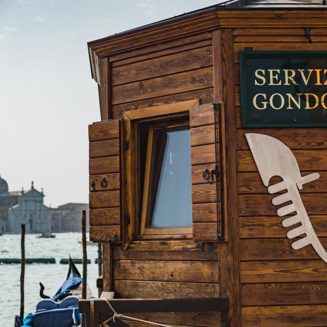 """""""Venetian Gondola Station"""" stock image"""