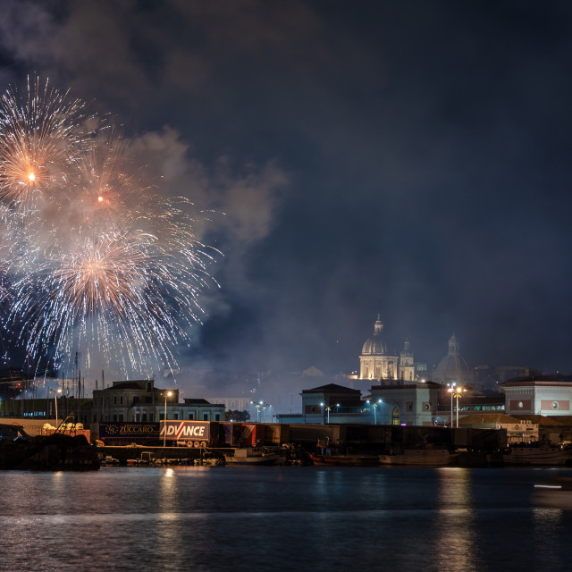 """Saint'Agata's Fireworks"" stock image"