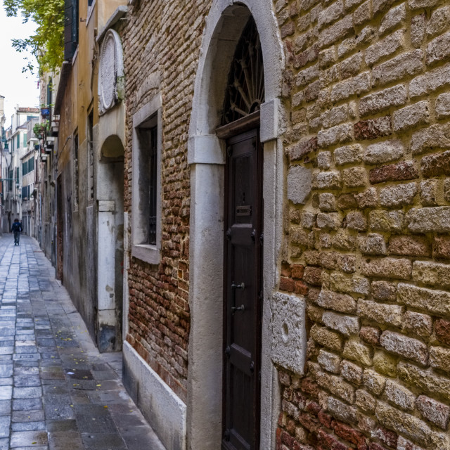 """""""Narrow streets leading through the ailing brick houses of the so-called 'Floating city'"""" stock image"""