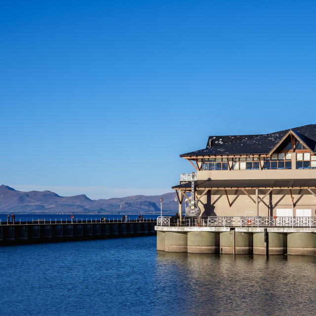 """San Carlos Port, San Carlos de Bariloche, Nahuel Huapi National Park, Rio..."" stock image"