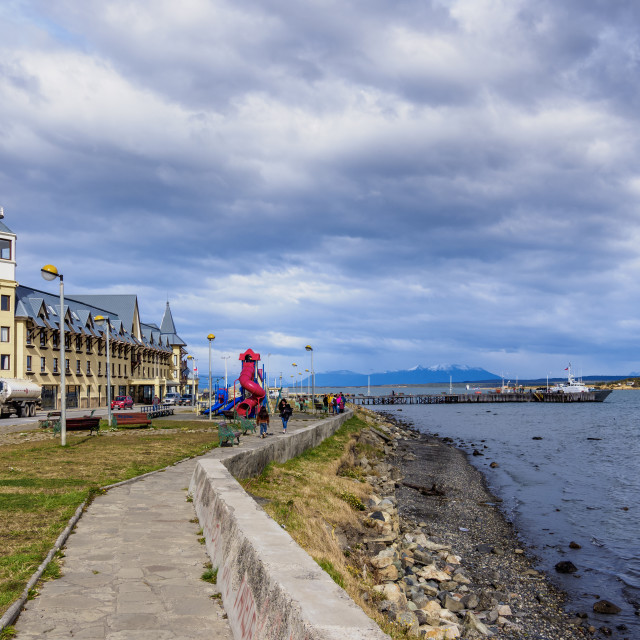 """Hotel Costaustralis, Puerto Natales, Ultima Esperanza Province, Patagonia, Chile"" stock image"