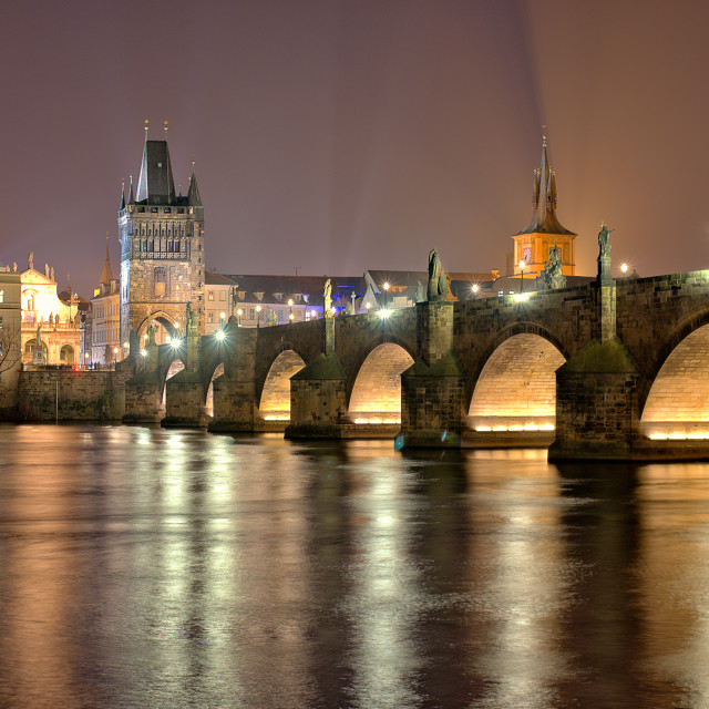 """Prague, Charles bridge"" stock image"