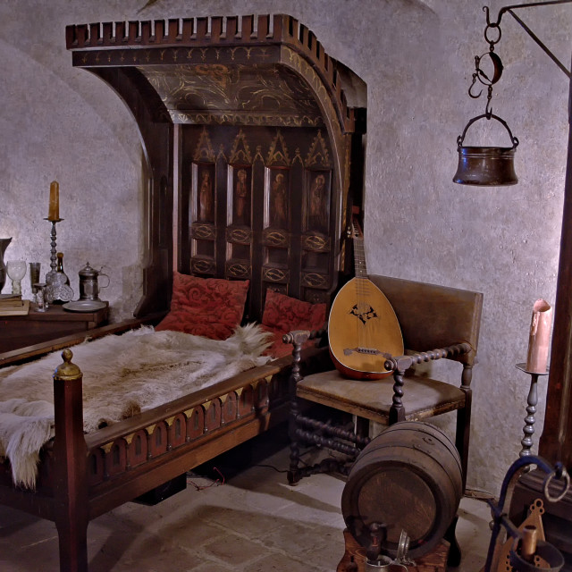 """old fashion bedroom"" stock image"