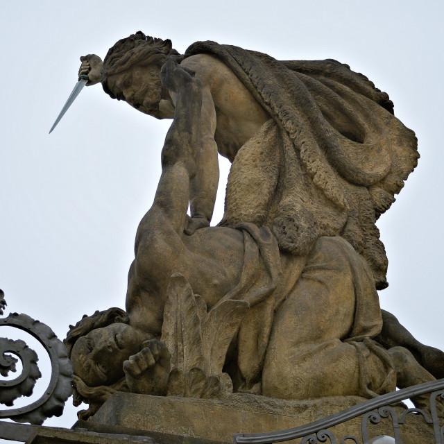 """Statue on charles bridge"" stock image"