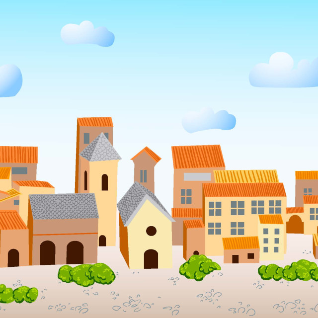 """Borgo rurale"" stock image"