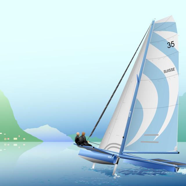 """""""catamarano"""" stock image"""