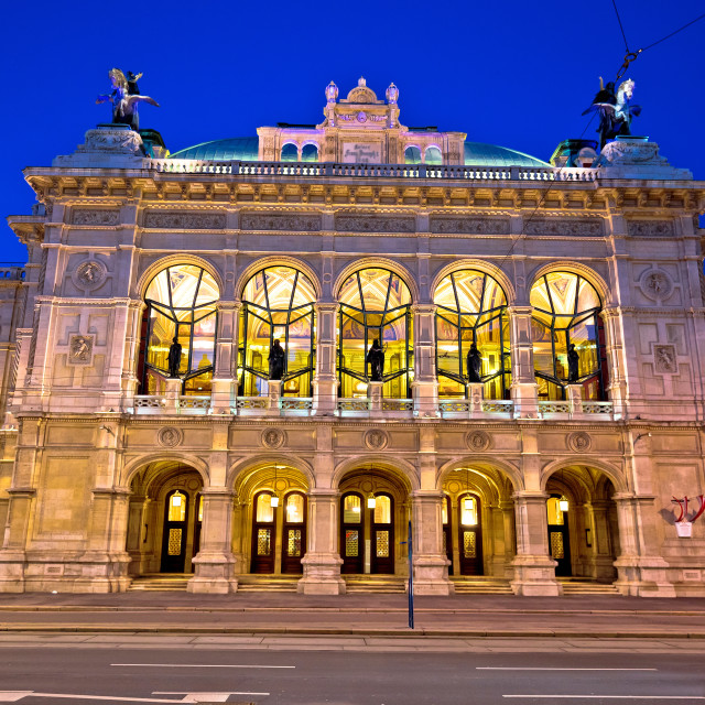"""""""Vienna state Opera house square and architecture evening view"""" stock image"""