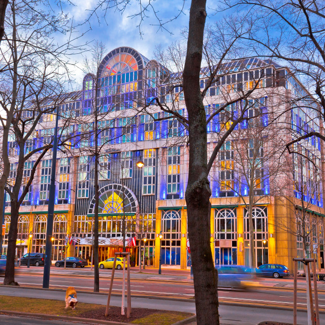 """Vienna street architecture dusk view"" stock image"