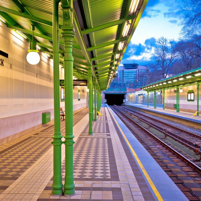 """""""Vienna Stadtpark underground train Ubahn station view"""" stock image"""