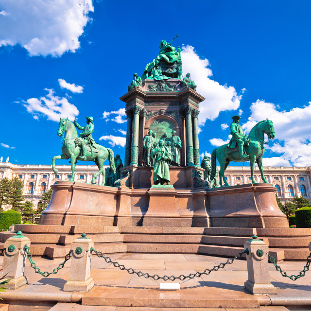 """""""Maria Theresien Platz square in Vienna architecture and nature view"""" stock image"""