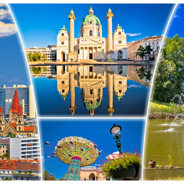 """""""Vienna postcard city architecture and nature view"""" stock image"""