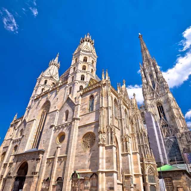 """""""Saint Stephens Cathedral in Vienna view"""" stock image"""