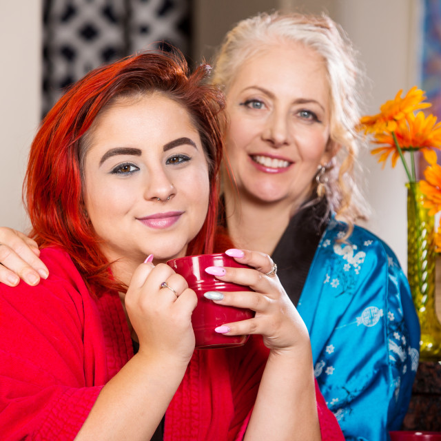 """Happy Mother and Daughter"" stock image"
