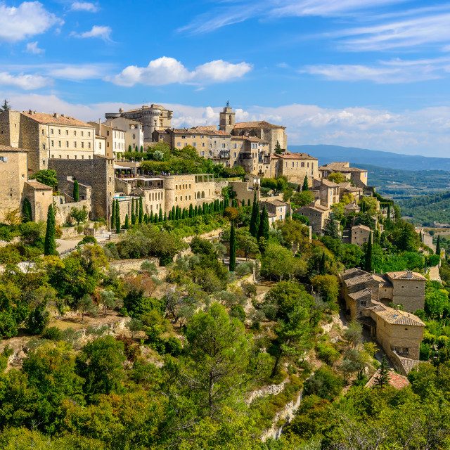 """""""Medieval Village of Gordes, Vaucluse, Provence, South of France"""" stock image"""