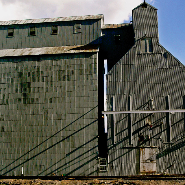 """Feed Storage, Hartline,Washington,USA"" stock image"