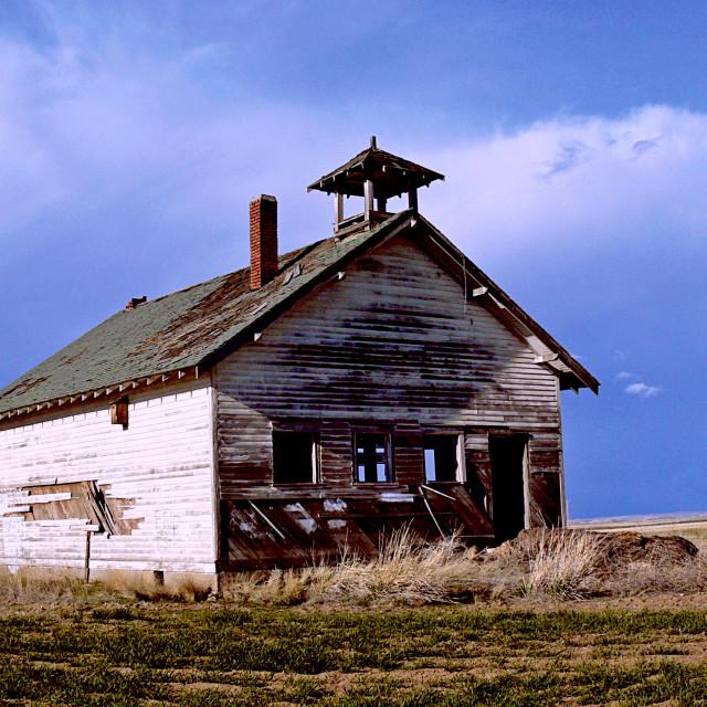 """""""One Room Schoolhouse"""" stock image"""
