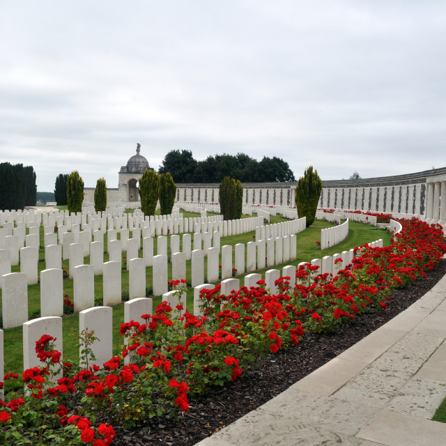 """""""War Cemetery Ypres, France"""" stock image"""