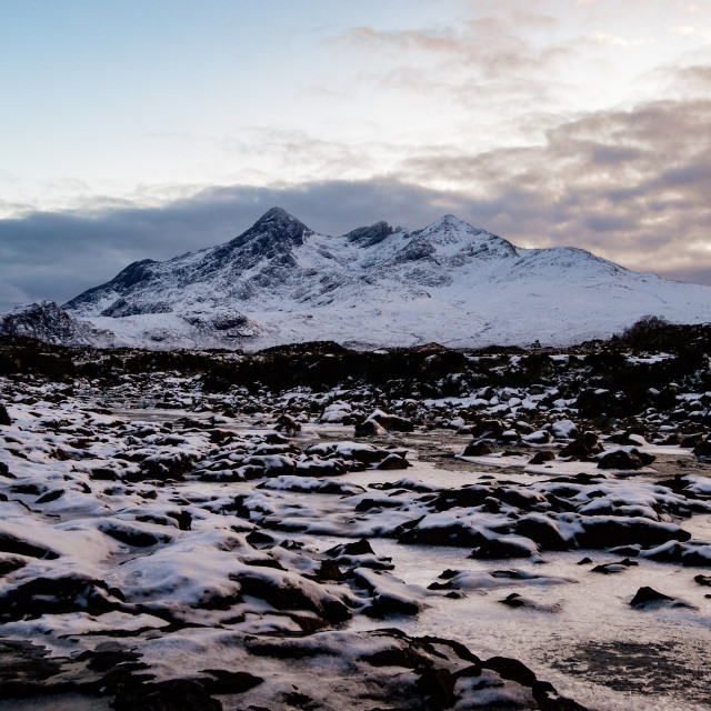 """Snow On The Cuillins 003"" stock image"