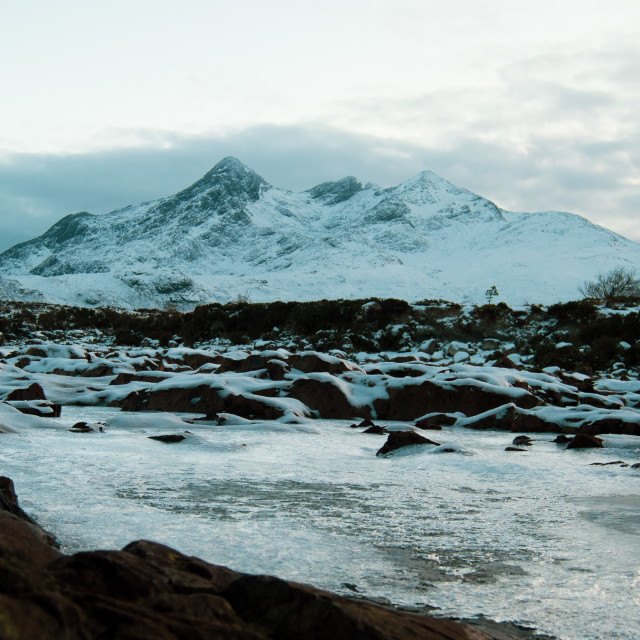 """Snow On The Cuillins 004"" stock image"